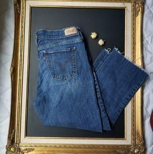 51fef564ef Levi's Jeans | Levis 505 Frayed Hem Straight Leg Denim Cut Offs ...